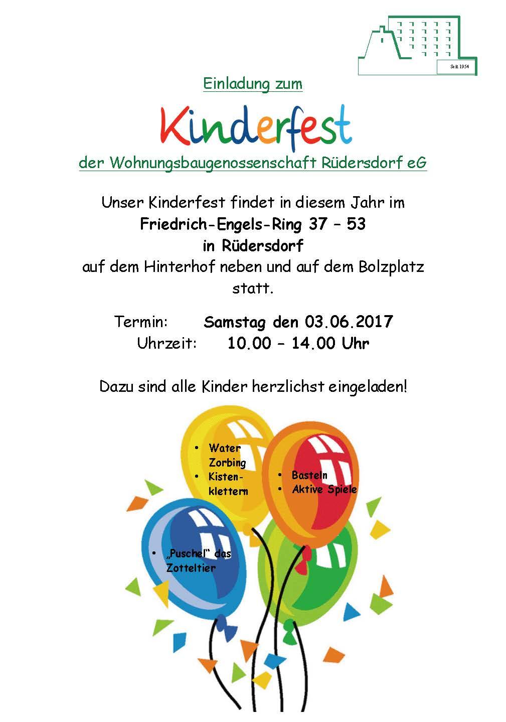 kinderfest, Einladungen